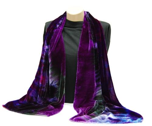 Silk/Rayon Velvet Scarf