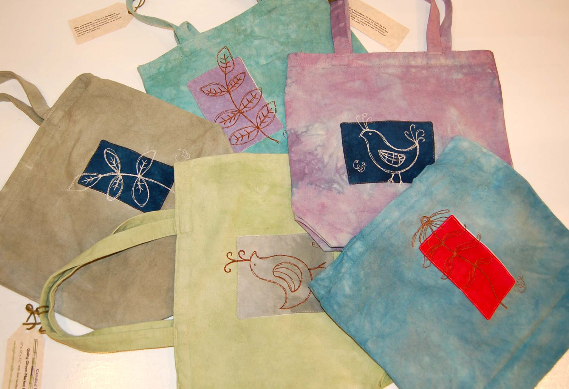 """Going Green Market Bag 13"""" x 12"""" x 31/2""""  with dual handles"""