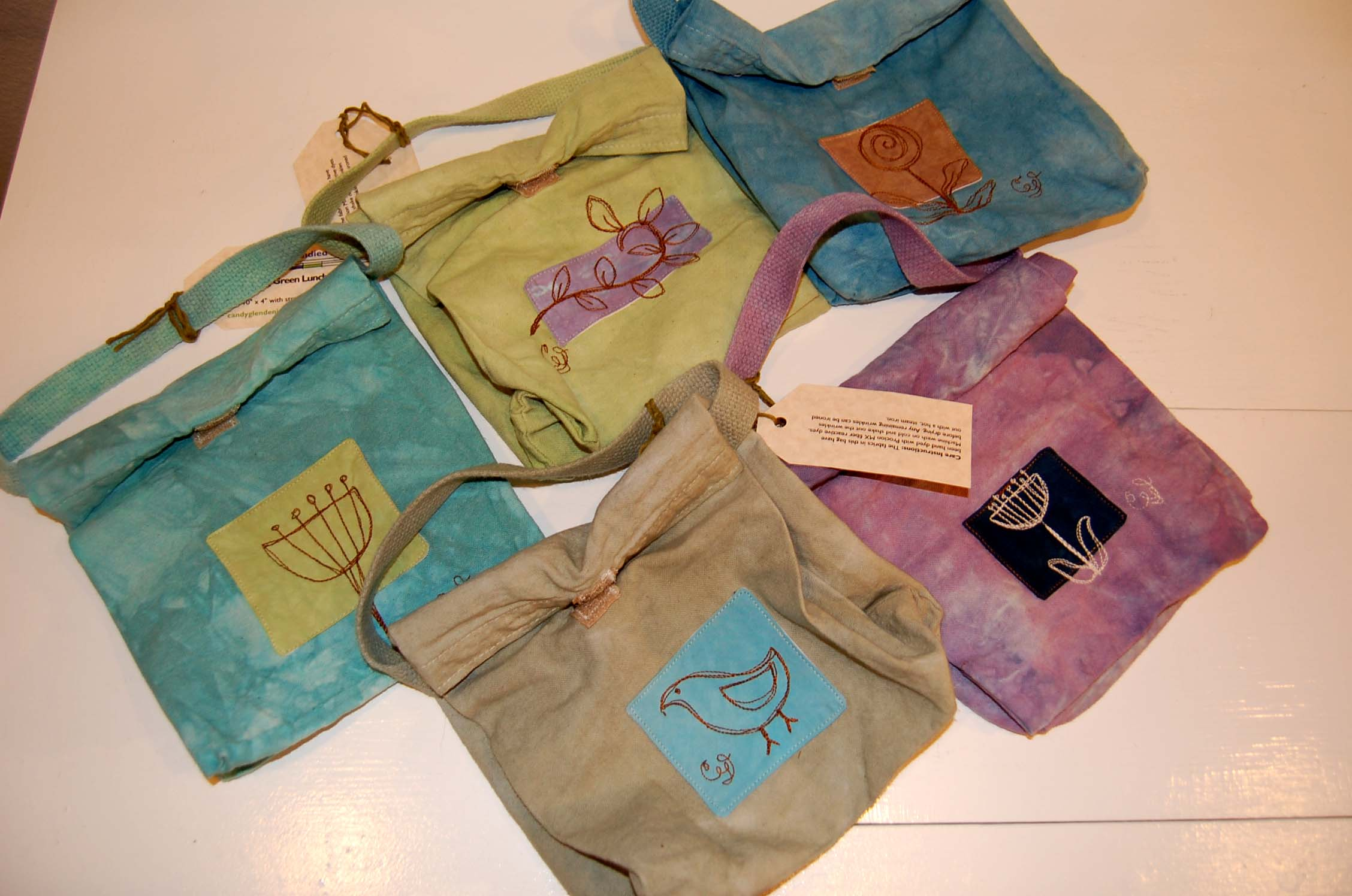 """Going Green Lunch Bag  7"""" x 10"""" x 4"""" with strap and velcro closure"""