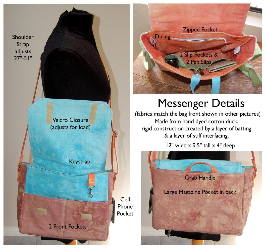 Messenger bag detail collage