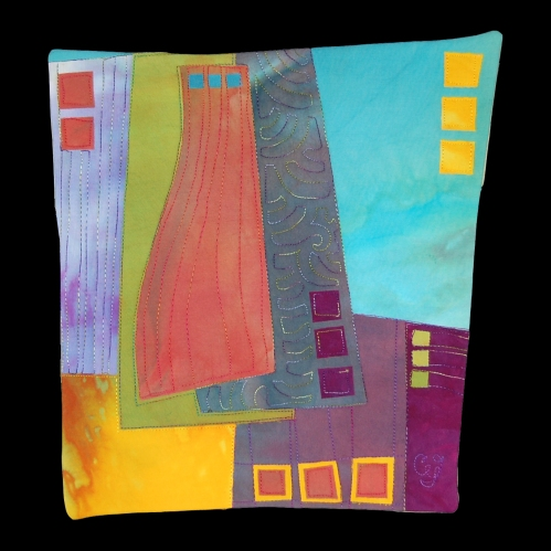 Recursive Study #1, the first art quilt I sold, less than a year ago!