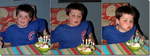 Logan is 8 Candle